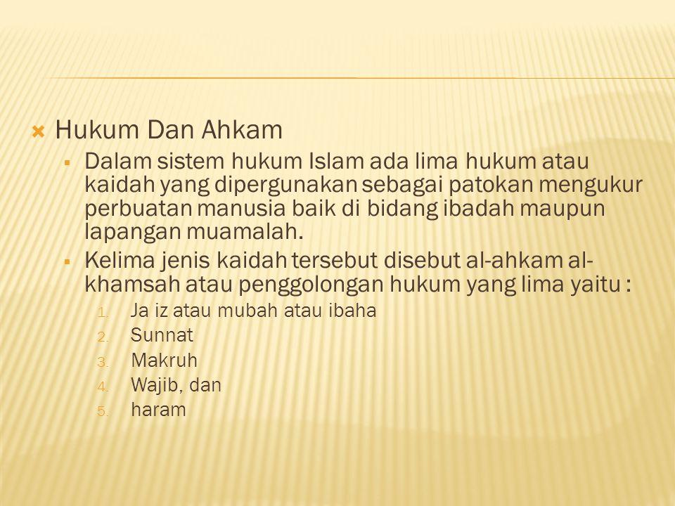 Hukum Dan Ahkam