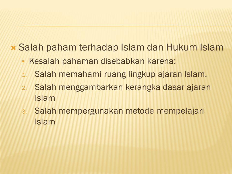 Salah paham terhadap Islam dan Hukum Islam
