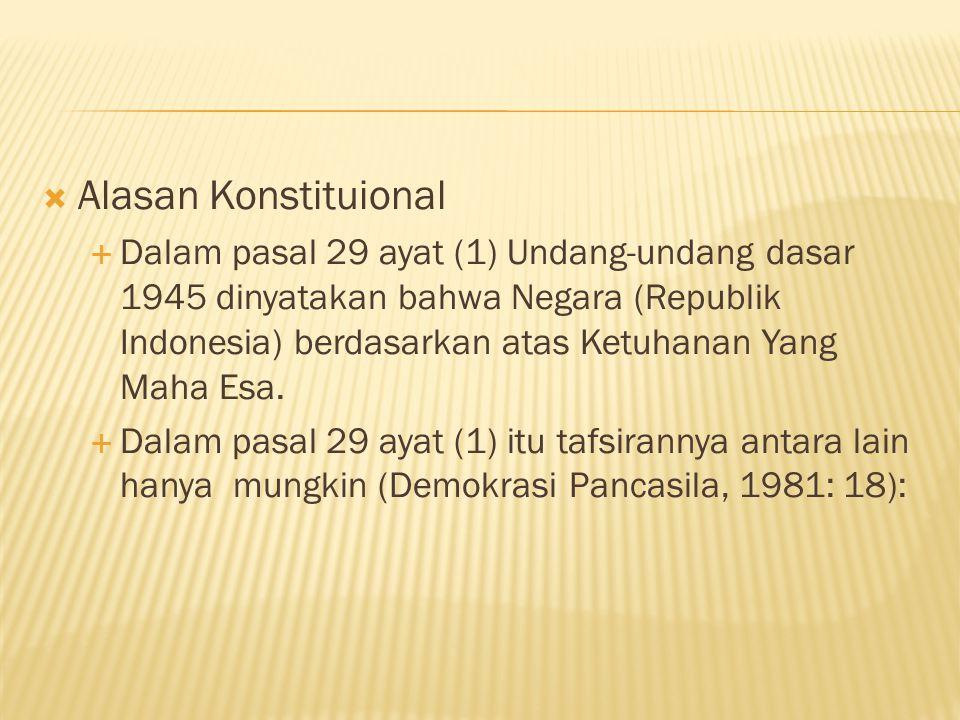 Alasan Konstituional