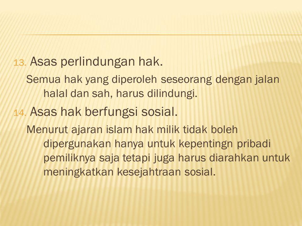 Asas hak berfungsi sosial.