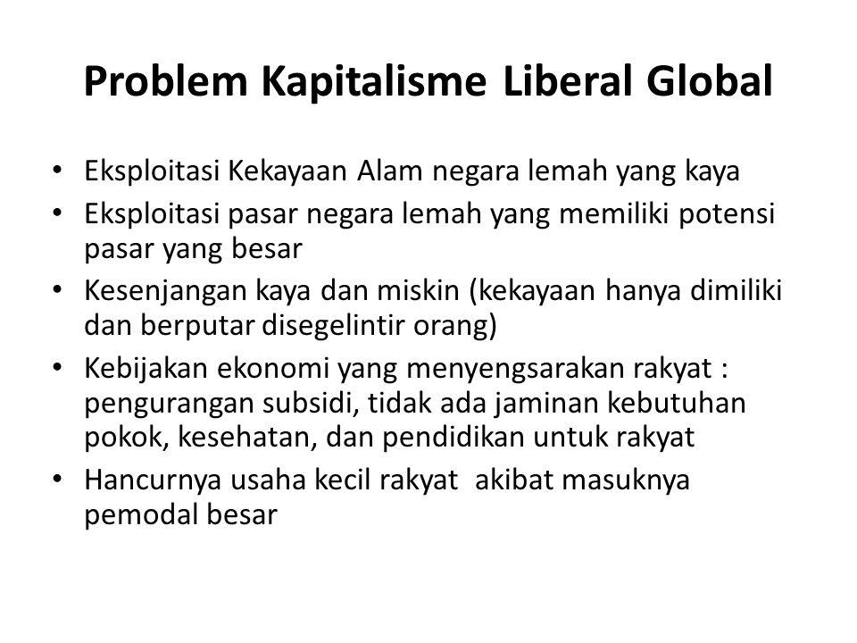 Problem Kapitalisme Liberal Global