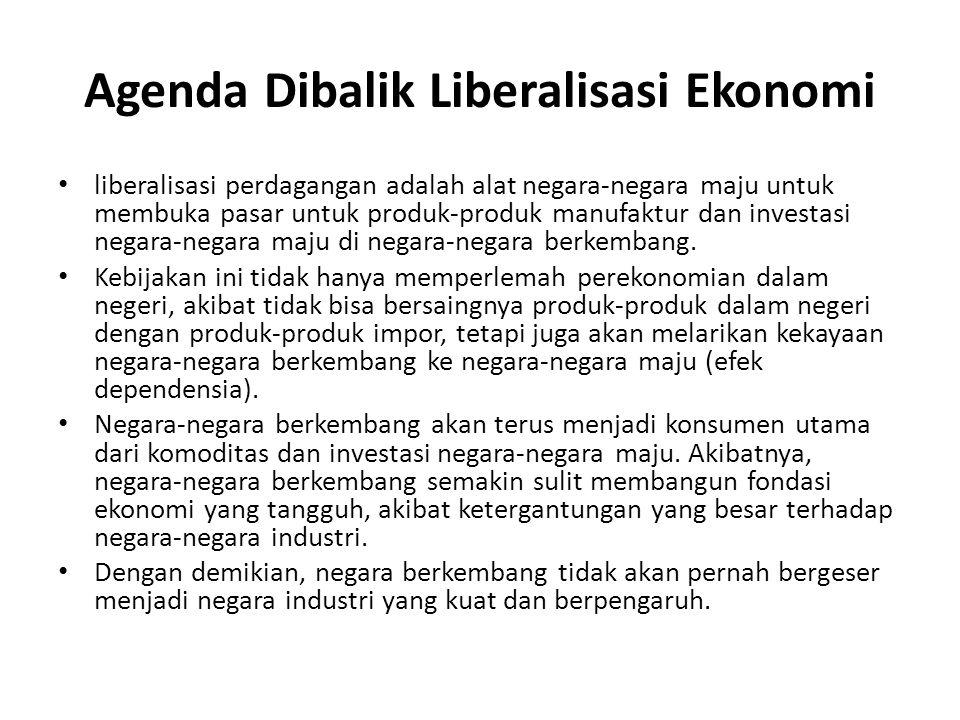 Agenda Dibalik Liberalisasi Ekonomi