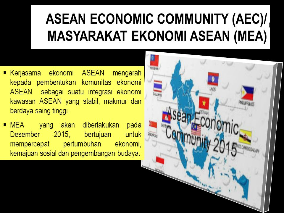 ASEAN ECONOMIC COMMUNITY (AEC)/ MASYARAKAT EKONOMI ASEAN (MEA)