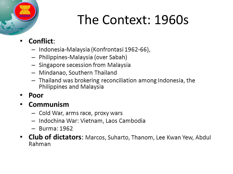 The Context: 1960s Conflict: Poor Communism