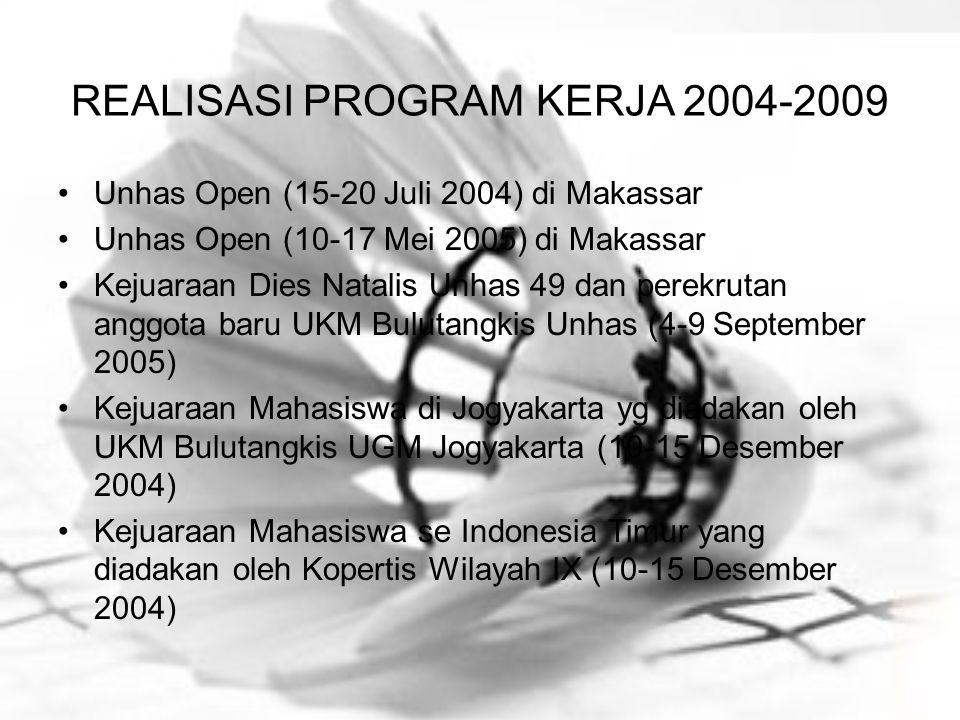 REALISASI PROGRAM KERJA 2004-2009