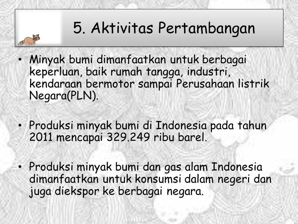 5. Aktivitas Pertambangan