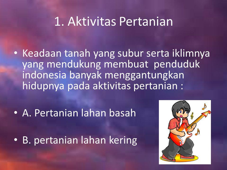 1. Aktivitas Pertanian