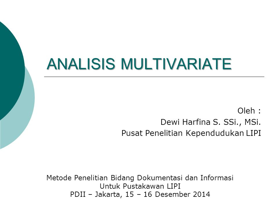 ANALISIS MULTIVARIATE