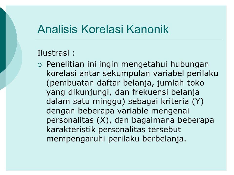 Analisis Korelasi Kanonik