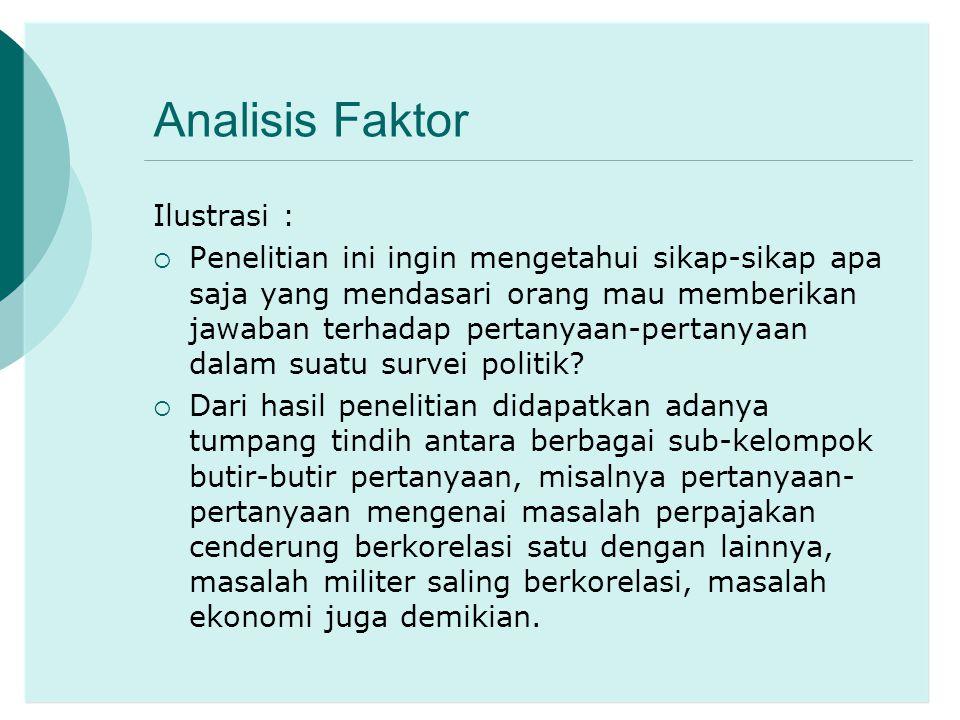 Analisis Faktor Ilustrasi :