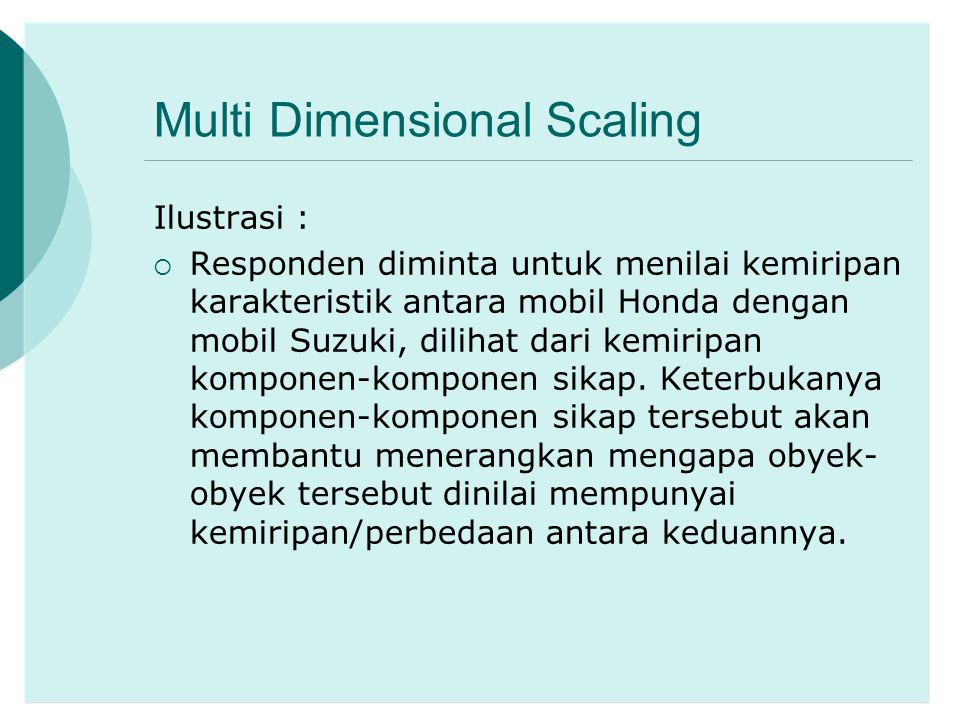 Multi Dimensional Scaling