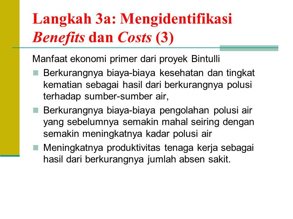 Langkah 3a: Mengidentifikasi Benefits dan Costs (3)
