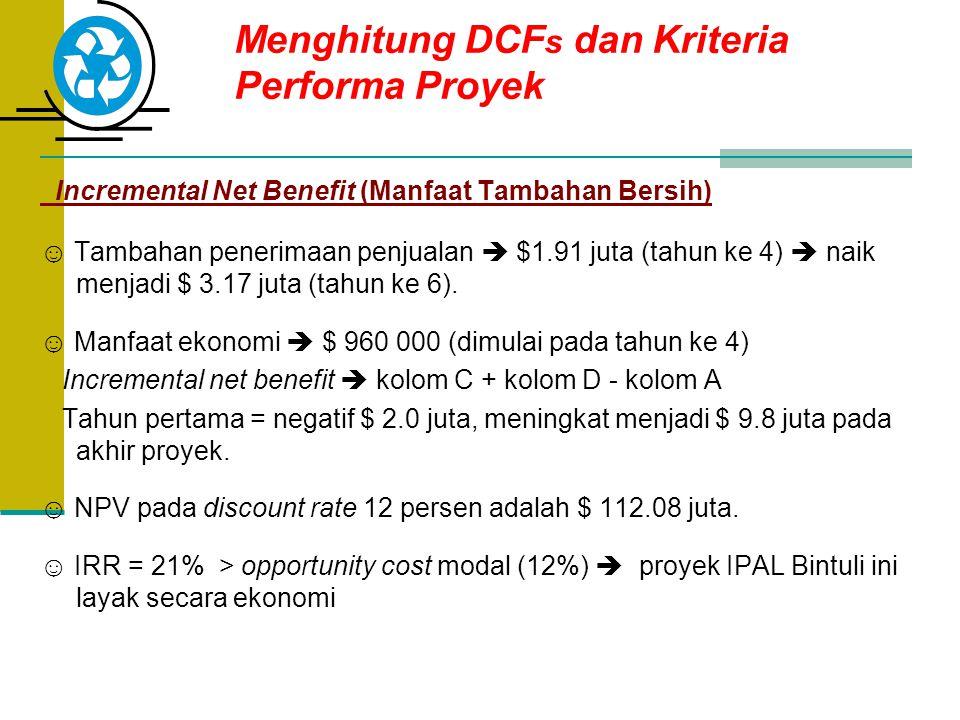 Menghitung DCFs dan Kriteria Performa Proyek
