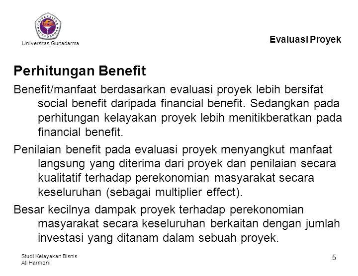 Evaluasi Proyek Perhitungan Benefit.