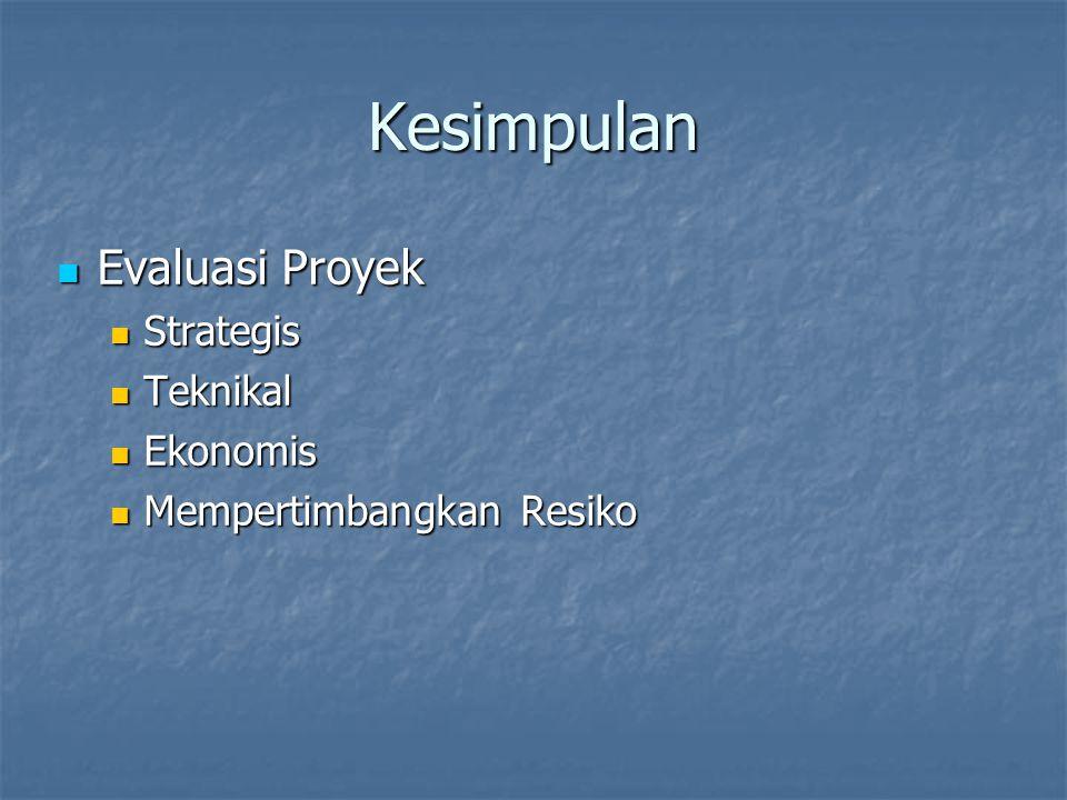 Kesimpulan Evaluasi Proyek Strategis Teknikal Ekonomis