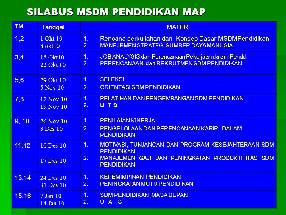 SILABUS MSDM PENDIDIKAN MAP