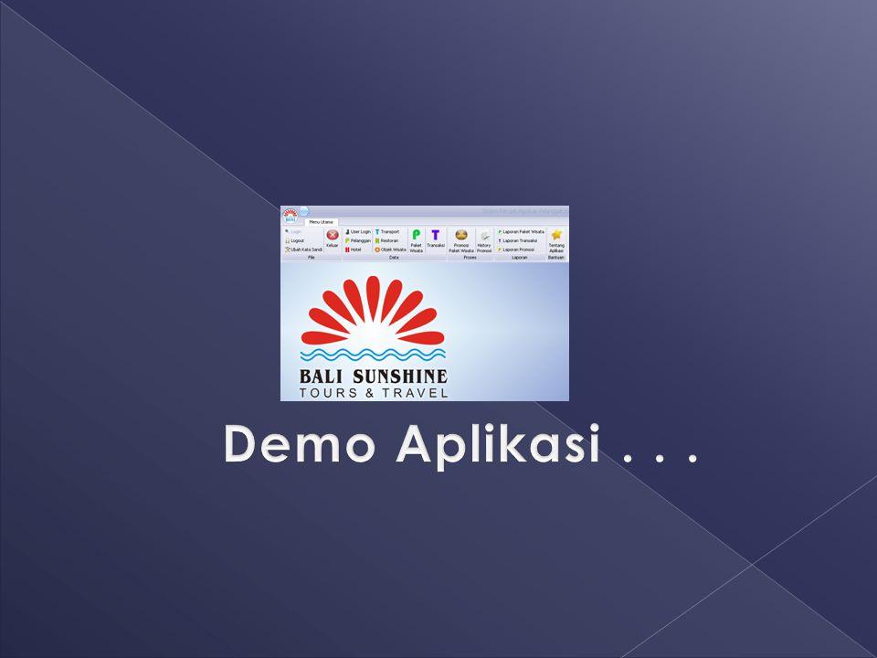 Demo Aplikasi . . .