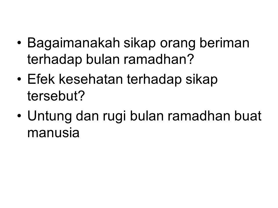 Bagaimanakah sikap orang beriman terhadap bulan ramadhan
