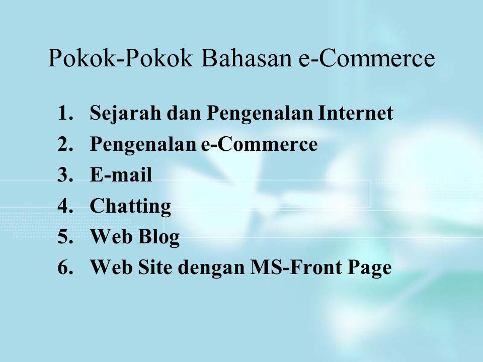 Pokok-Pokok Bahasan e-Commerce