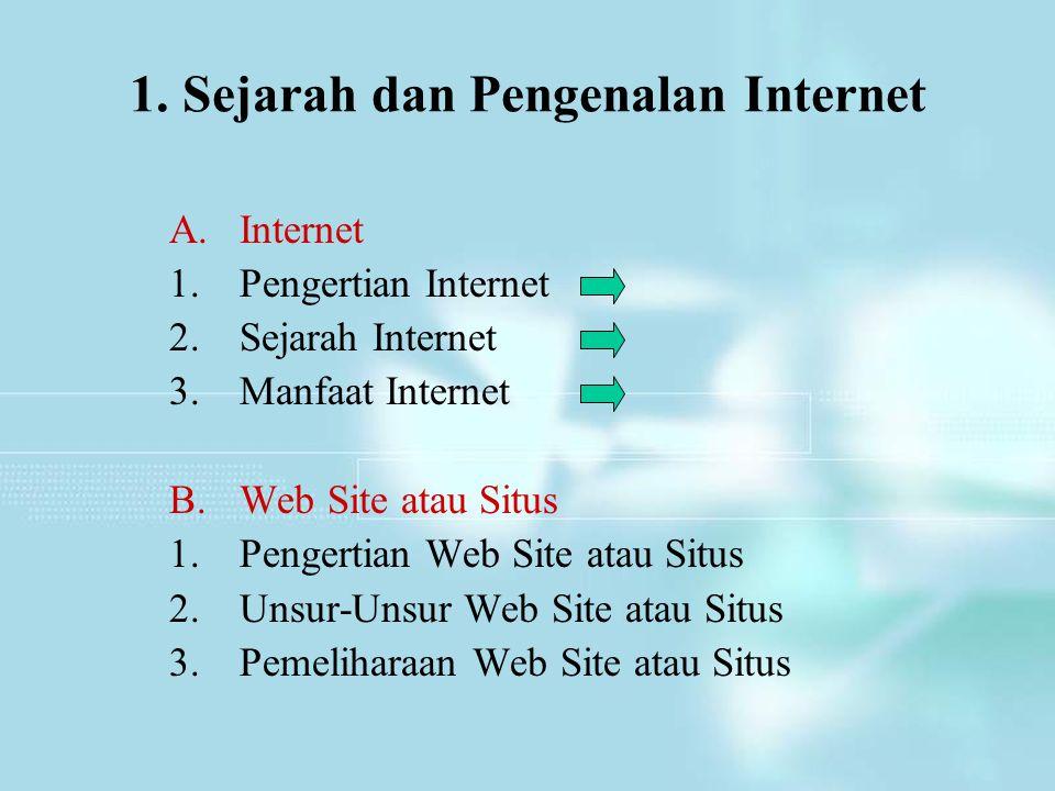 1. Sejarah dan Pengenalan Internet