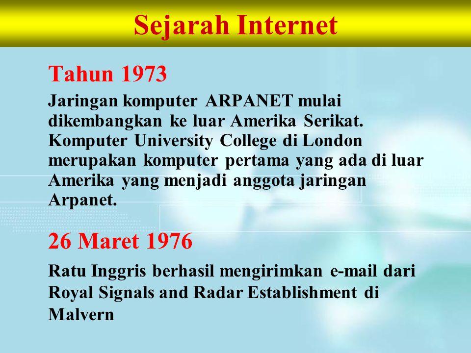 Sejarah Internet Tahun 1973 26 Maret 1976