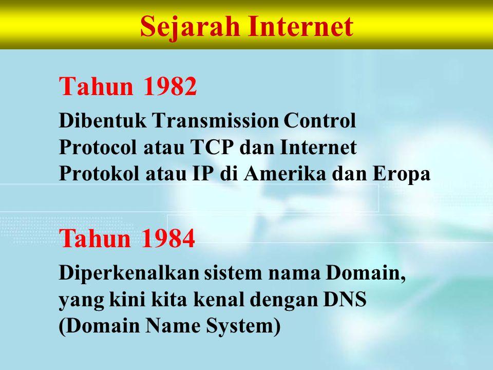 Sejarah Internet Tahun 1982 Tahun 1984