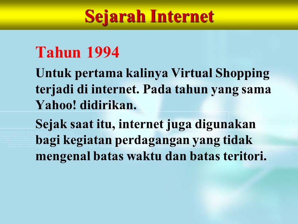 Sejarah Internet Tahun 1994