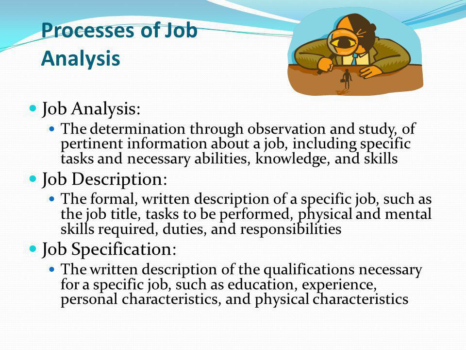 Processes of Job Analysis