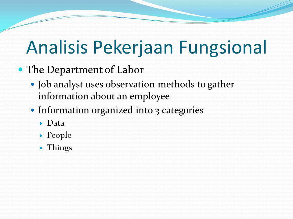 Analisis Pekerjaan Fungsional