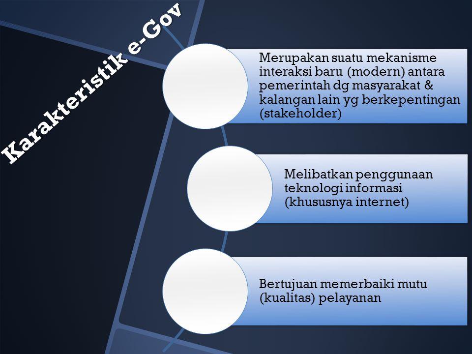 Merupakan suatu mekanisme interaksi baru (modern) antara pemerintah dg masyarakat & kalangan lain yg berkepentingan (stakeholder)