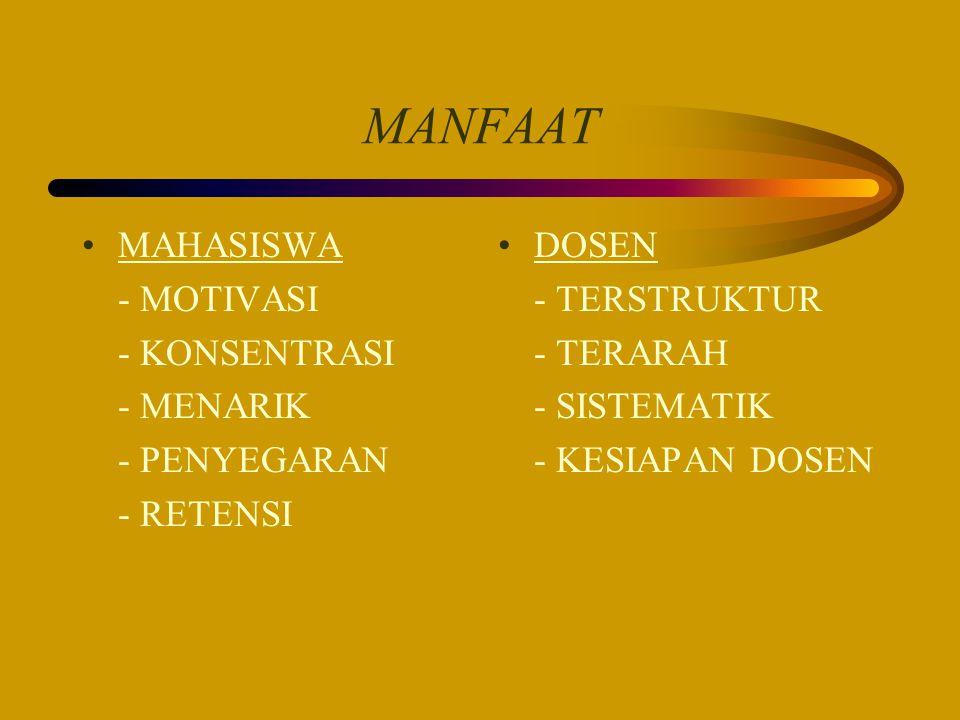 MANFAAT MAHASISWA - MOTIVASI - KONSENTRASI - MENARIK - PENYEGARAN