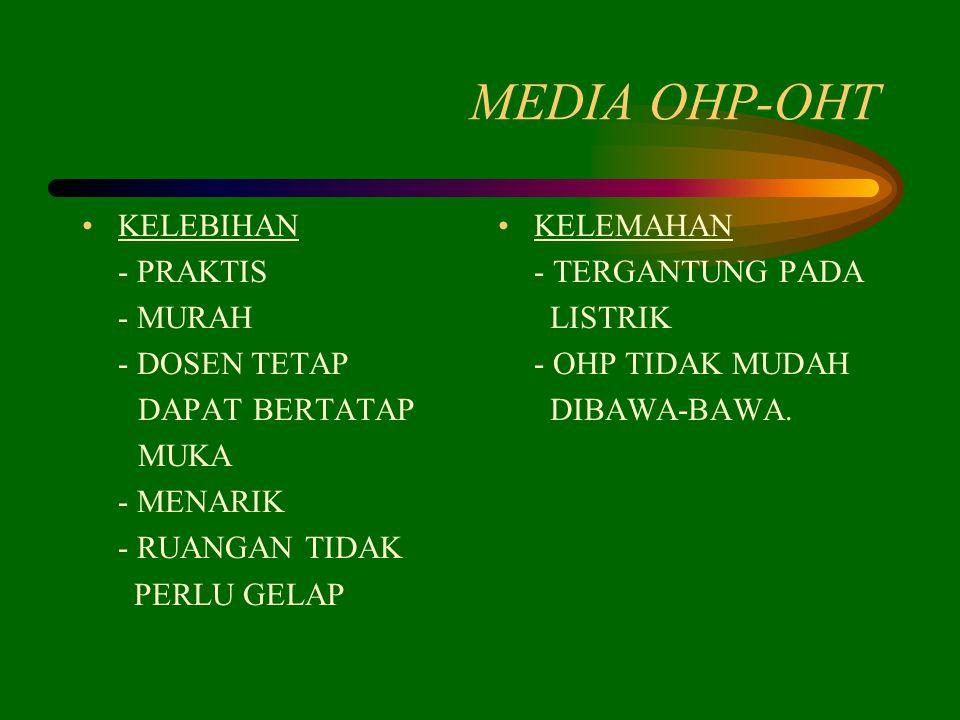 MEDIA OHP-OHT KELEBIHAN - PRAKTIS - MURAH - DOSEN TETAP DAPAT BERTATAP
