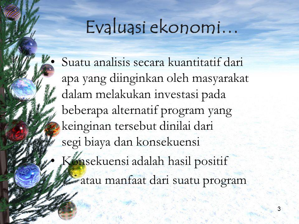 Evaluasi ekonomi…
