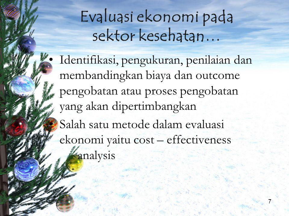 Evaluasi ekonomi pada sektor kesehatan…