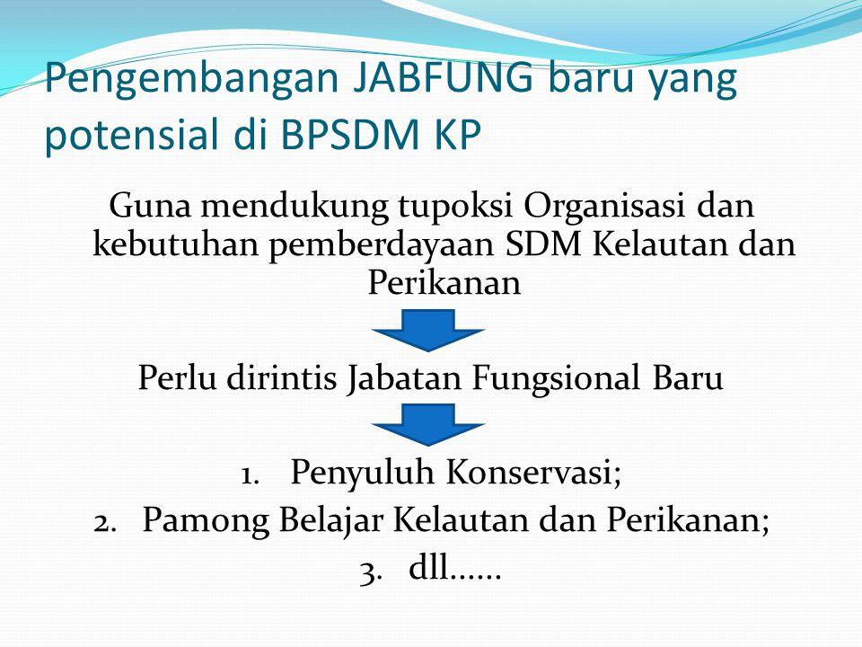 Pengembangan JABFUNG baru yang potensial di BPSDM KP