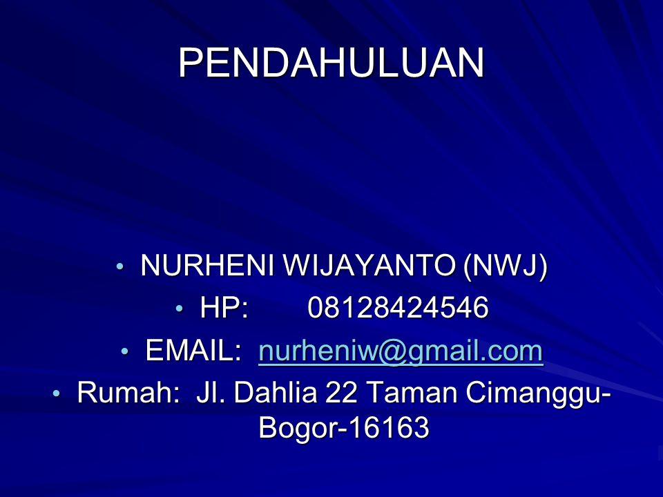 PENDAHULUAN NURHENI WIJAYANTO (NWJ) HP: 08128424546