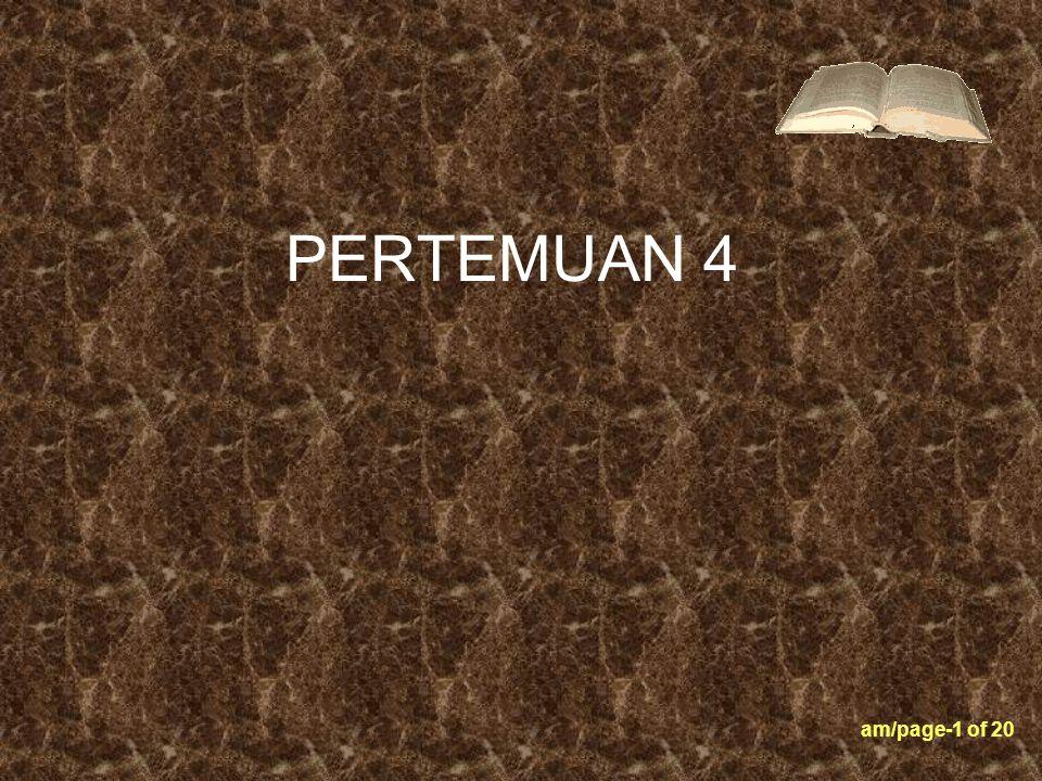 PERTEMUAN 4