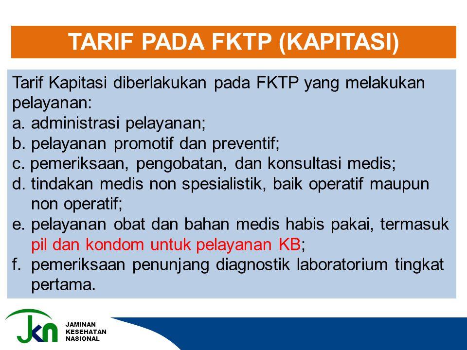 TARIF PADA FKTP (KAPITASI)