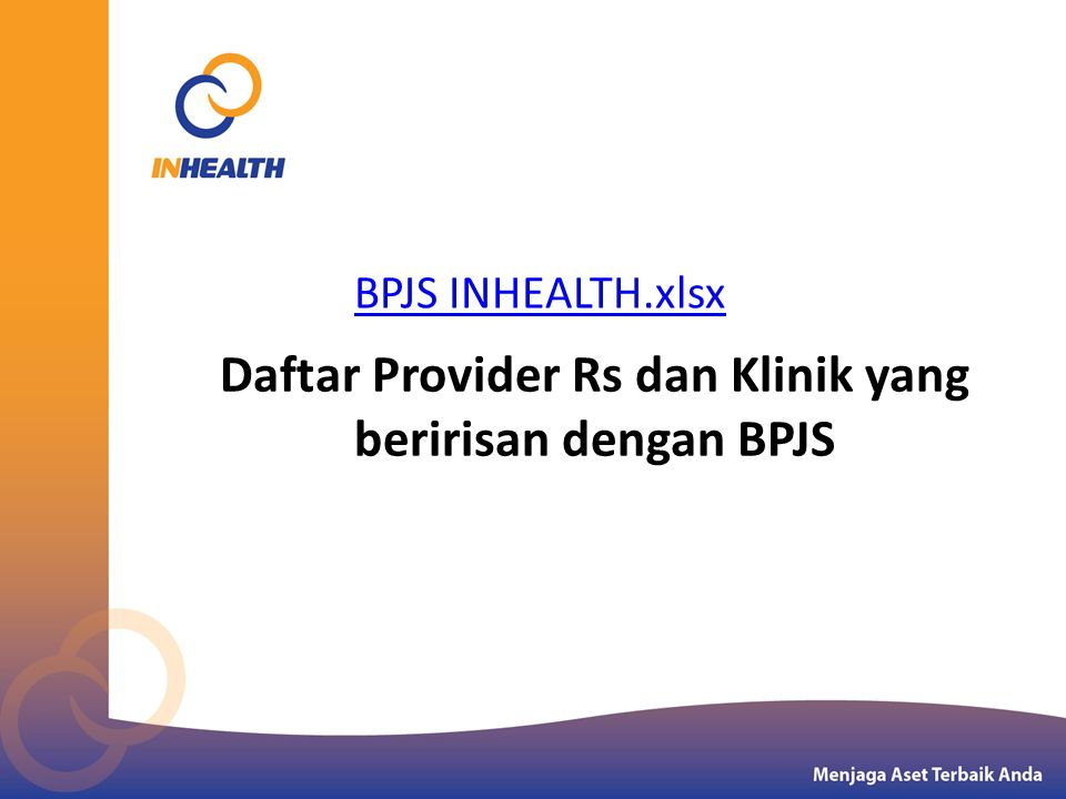 Daftar Provider Rs dan Klinik yang beririsan dengan BPJS