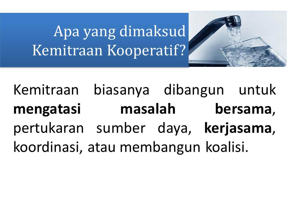 Apa yang dimaksud Kemitraan Kooperatif