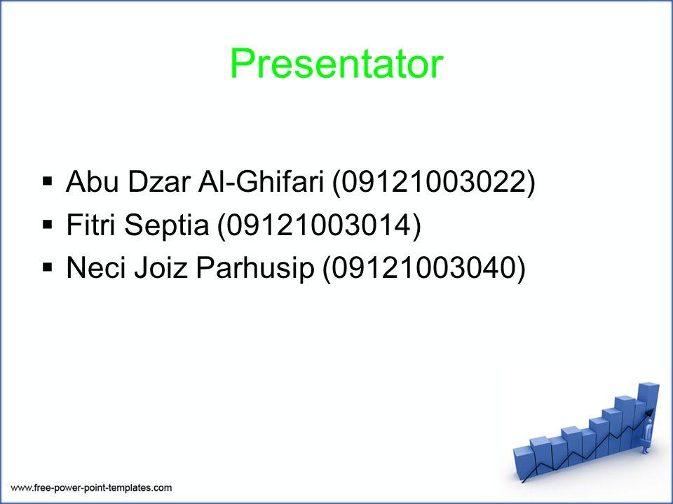 Presentator Abu Dzar Al-Ghifari (09121003022)