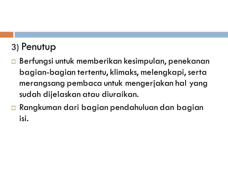 3) Penutup