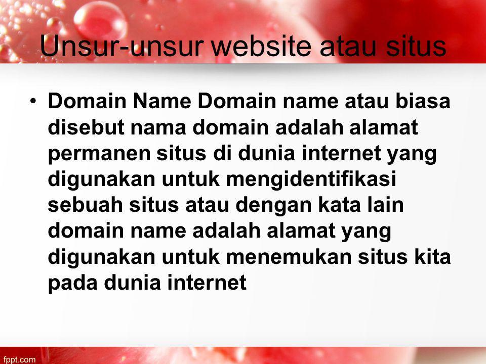 Unsur-unsur website atau situs