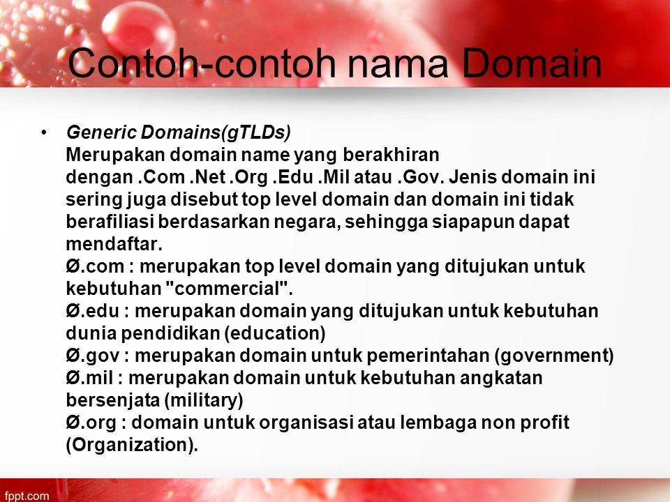 Contoh-contoh nama Domain