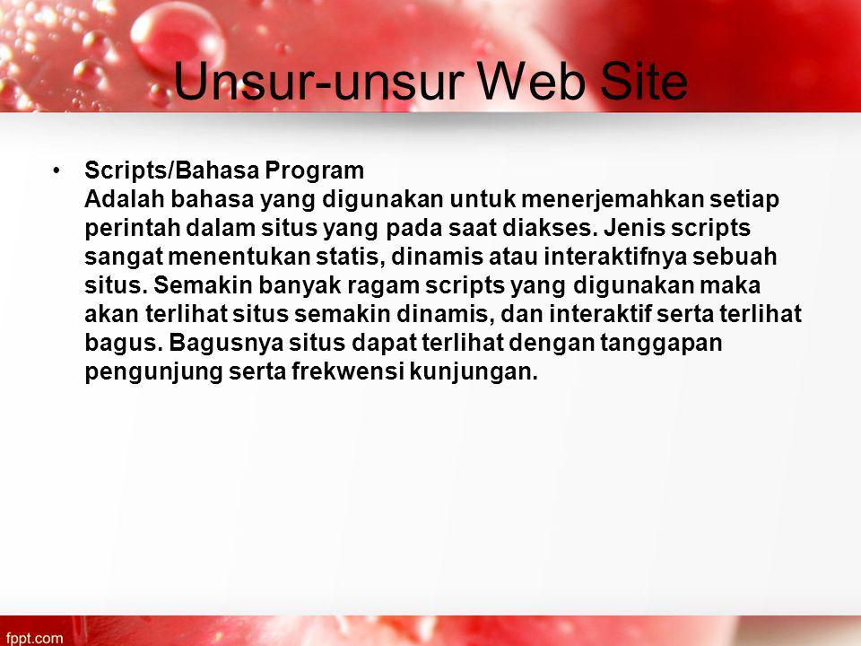 Unsur-unsur Web Site