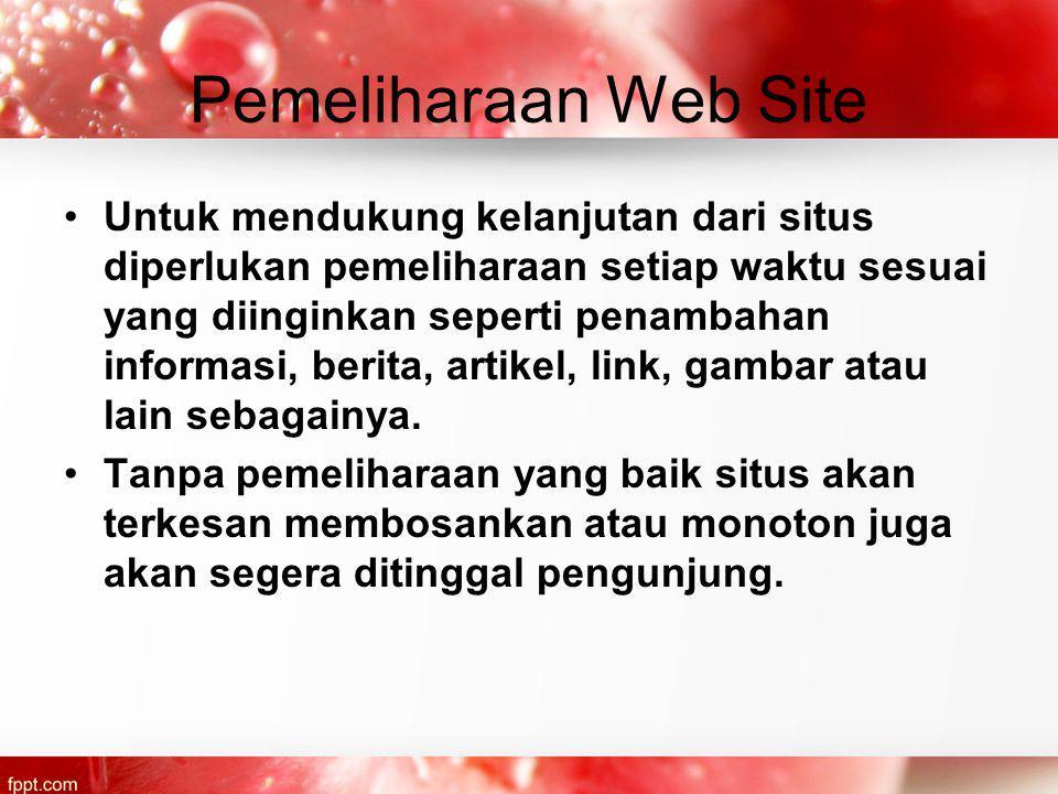 Pemeliharaan Web Site