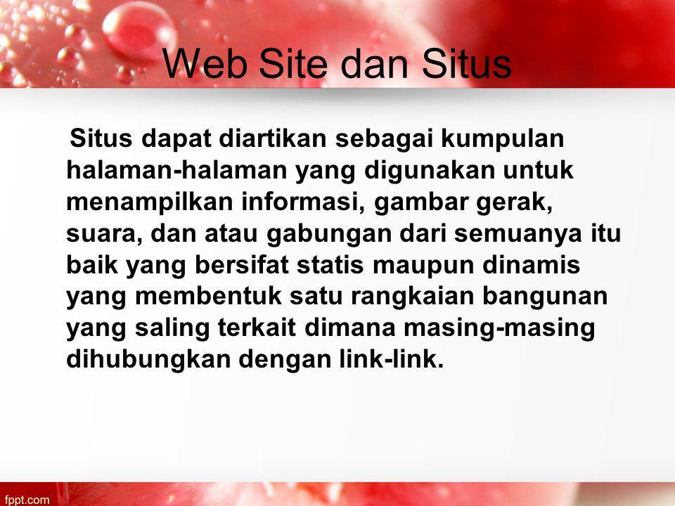 Web Site dan Situs