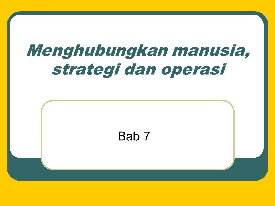 Menghubungkan manusia, strategi dan operasi