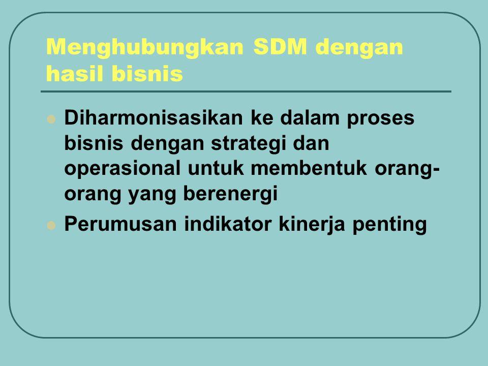 Menghubungkan SDM dengan hasil bisnis