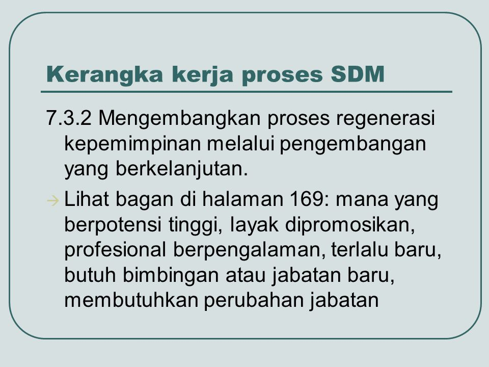 Kerangka kerja proses SDM
